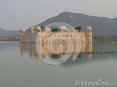 Floating Mogul palace in shallow lake