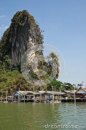 Floating Muslim village in Ko Phang nga