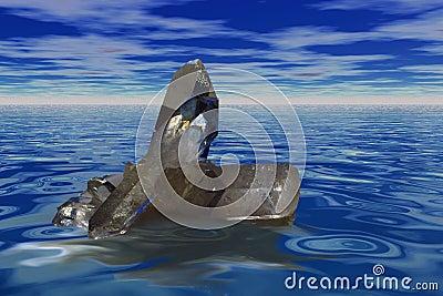 Floating quartz crysta