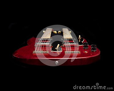Floating Red Guitar