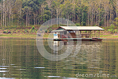 Floating residence at countryside