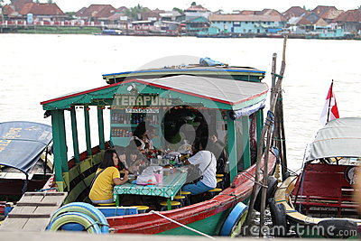 Floating restaurant Editorial Photography
