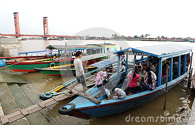 Floating restaurant Editorial Stock Image