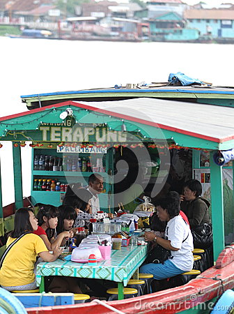 Floating restaurant Editorial Image
