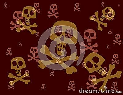 Floating skulls & crossbones