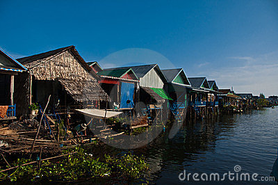 Floating village Editorial Image