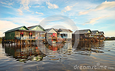 Floating village at Cambodia