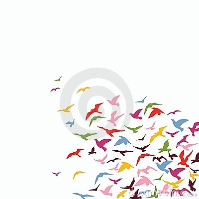 Free Flock Of Birds Royalty Free Stock Image - 8713356