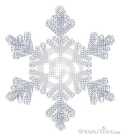 Floco e quadrados da neve