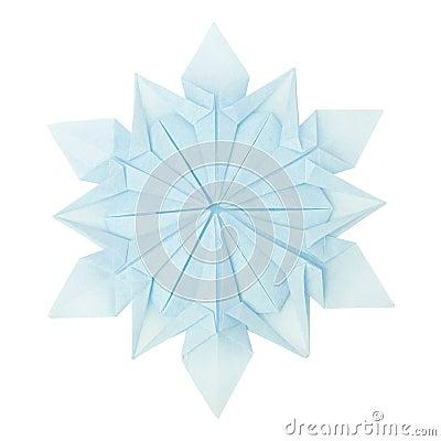 flocon de neige d 39 origami image libre de droits image. Black Bedroom Furniture Sets. Home Design Ideas