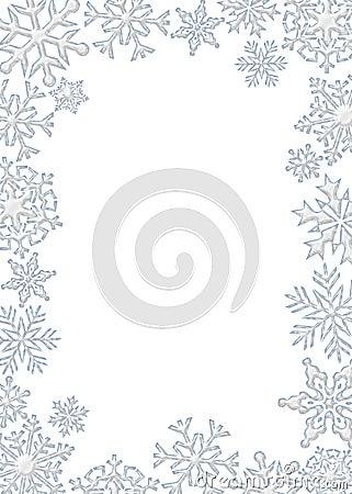 flocon de neige de cadre photos stock image 7419453