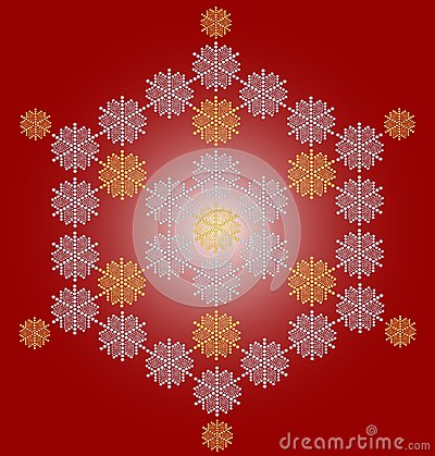 Carte de Noël contemporaine de flocon de neige