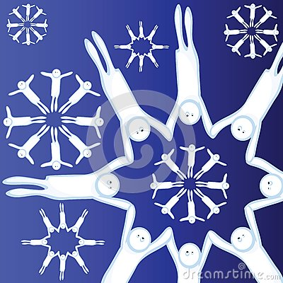 Flocons de neige vivants