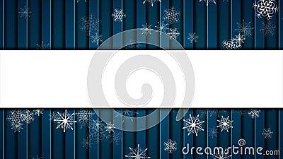 Flocos de neve de queda abstratos em escuro - animação video do fundo azul filme