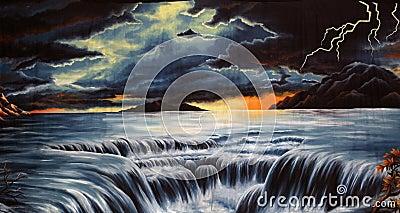 Flood background