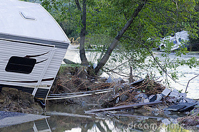 Flood Damage Berlin Vermont : Hurricane Irene Editorial Photography