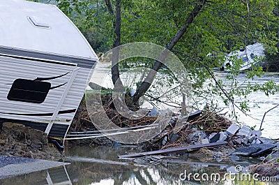 Flood Damage Berlin Vermont : Hurricane Irene Editorial Photography