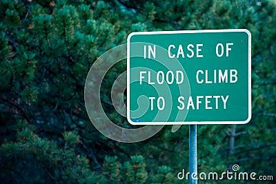 Flood danger sign