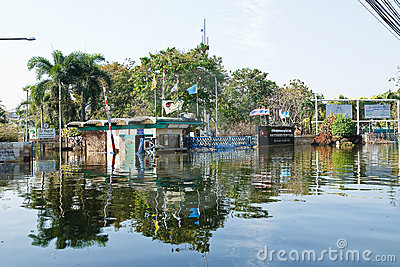 Flood factory in Nava Nakorn Industrial thailand Editorial Stock Image