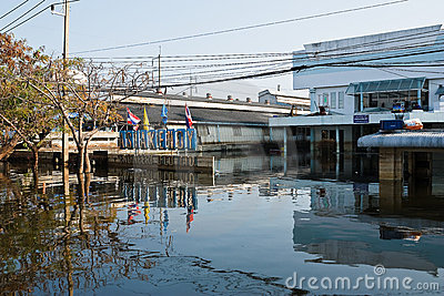 Flood factory in Nava Nakorn Industrial thailand Editorial Image