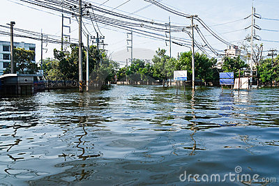 Flood factory in Nava Nakorn Industrial thailand Editorial Stock Image