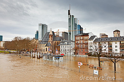 Flood in Frankfurt Editorial Stock Photo