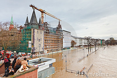 Flood in Frankfurt Editorial Image