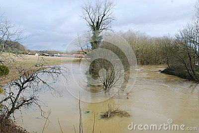 Flood in the French country