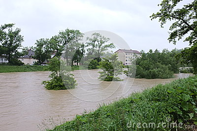 Flood Editorial Stock Photo