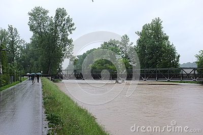 Flood Editorial Stock Photo