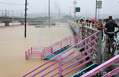 Flood In Manila, Philippines Stock Images - Image: 26049104