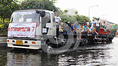 Flood Rescue Editorial Photography