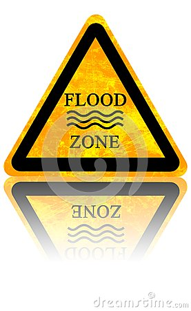 Free Flood Sign Royalty Free Stock Image - 35288396