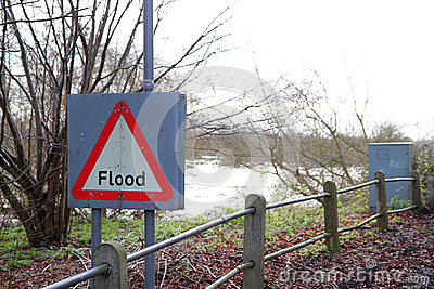Flood sign.