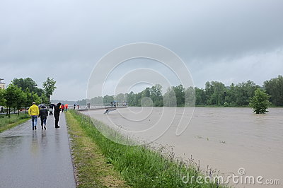 Flood tourism Editorial Stock Photo