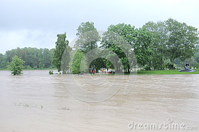 Flood tourism Editorial Stock Image