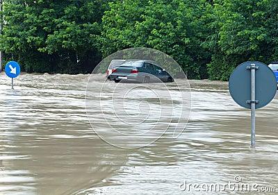 Flood in urban area