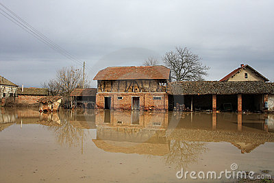 Flood in the village