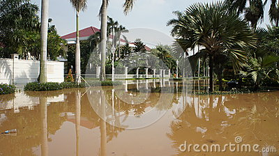 Flood in West Jakarta, Indonesia Editorial Stock Photo