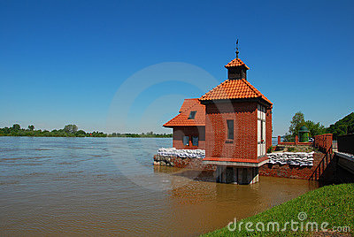 The flood at Wisla river