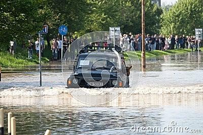 Flood in Wroclaw, Kozanow 2010 Editorial Image