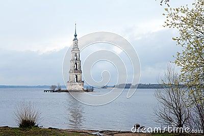 Flooded Belltower In Kalyazin