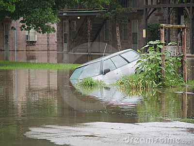 Flooded Car Editorial Photo