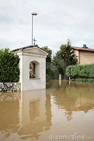 Flooded Christian chapel