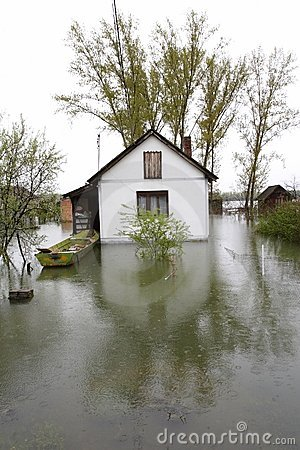 Free Flooded Homes Stock Image - 698551