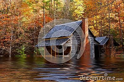 Flooded Iowa House