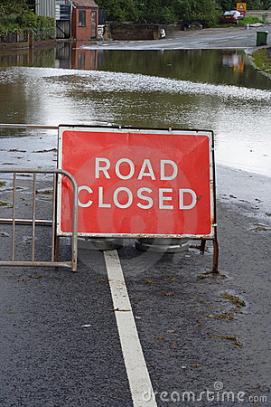 Flooded Road Editorial Stock Photo