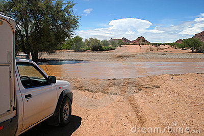 Flooded Road. Namibia