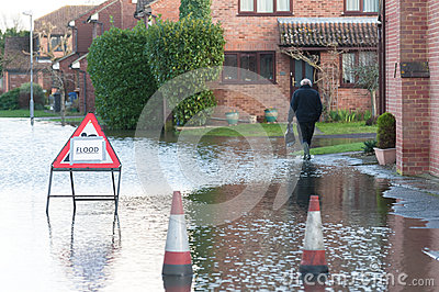Flooded street Editorial Image