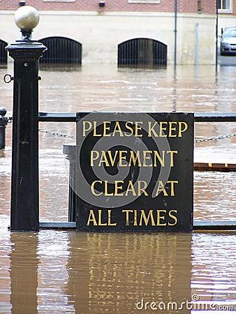 Flooded York sign